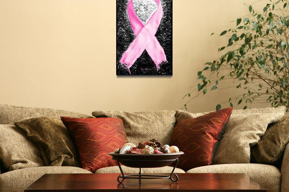 """""""Breast Cancer Awareness Ribbon&quot  (2012) by LukeMoore"""