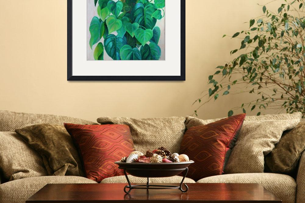 """""""Hearts of Philodendron Painting&quot  (1976) by KsWorldArt"""