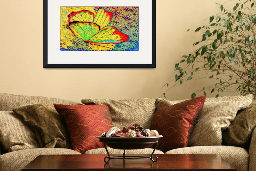 """""""Abstract Butterfly Art 2""""  (2016) by positivebusinessdesigns"""