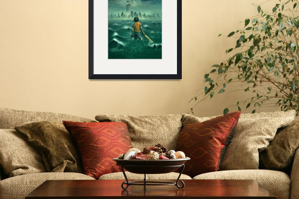 """""""The Lightning Thief - Percy Jackson Book Cover&quot  by roccoart"""