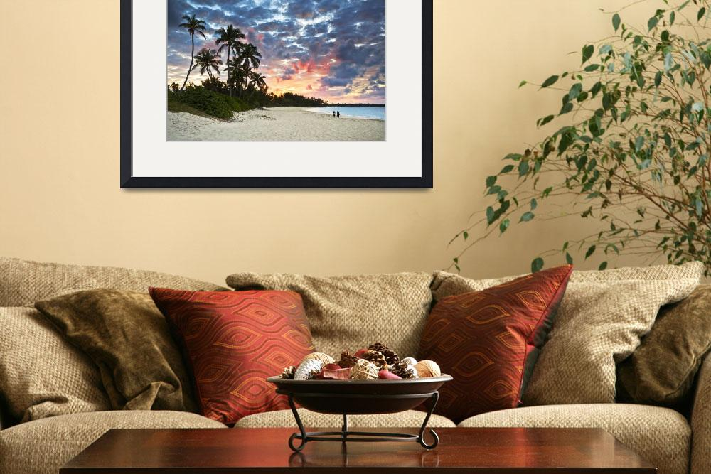 """""""Tropical Caribbean White Sand Beach Paradise at Su&quot  (2011) by DAPhoto"""