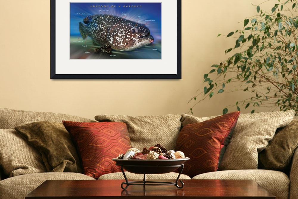 """""""Anatomy of a Grouper Fish""""  (2009) by williamcho"""