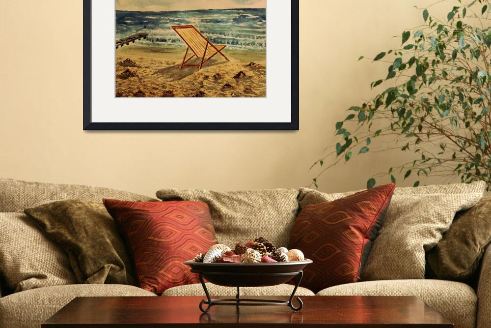 """""""The Beach Chair By The Sea""""  by arthop77"""