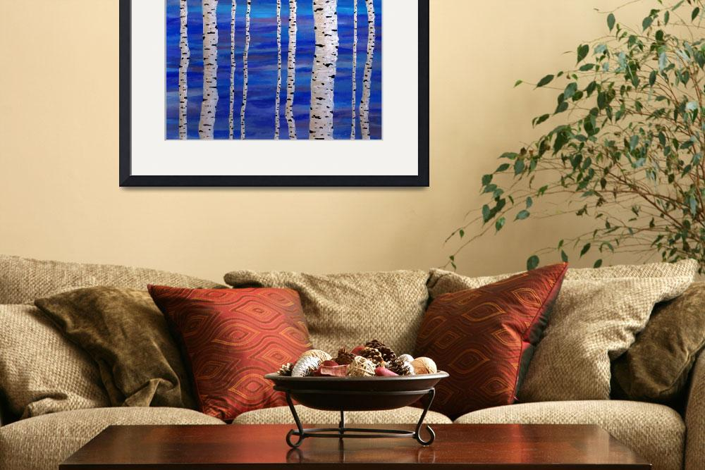"""""""birch trees&quot  by rippleart"""