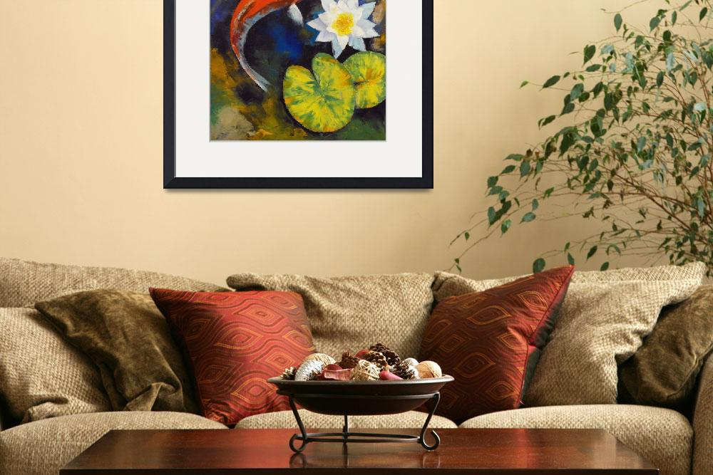 """""""Koi Fish and Water Lily&quot  by creese"""