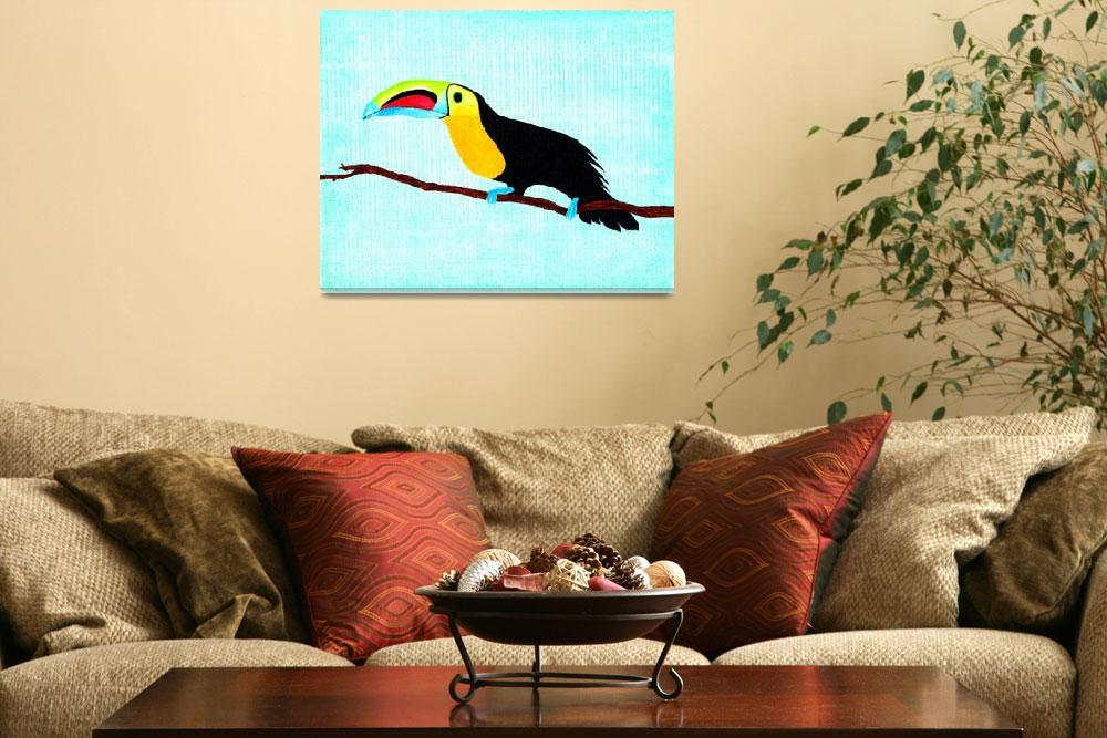 """""""Toucan at rest""""  (2013) by LimeCreekArt"""