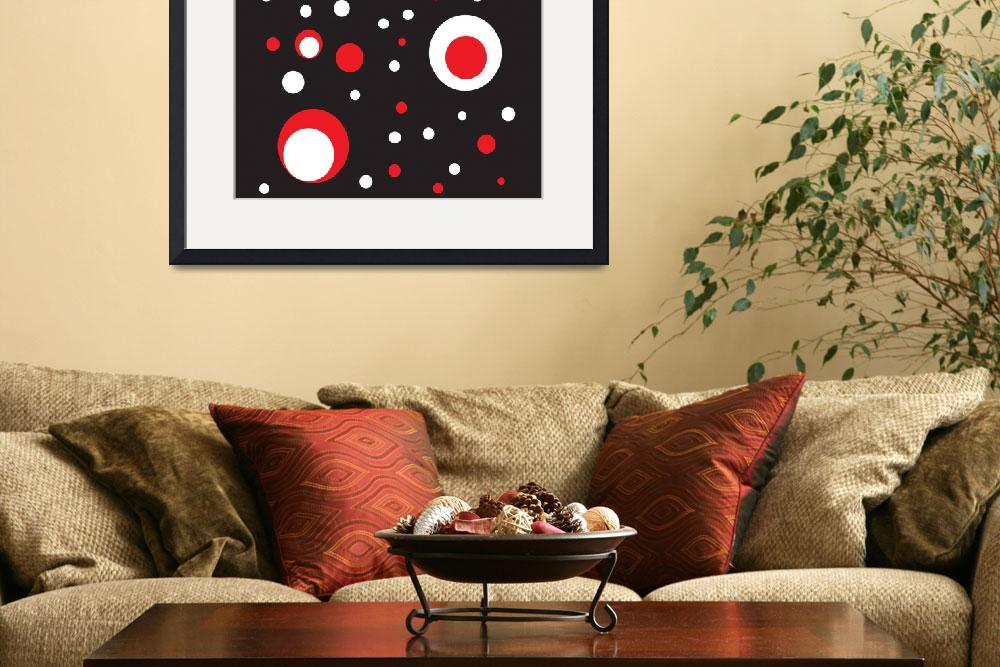 """""""Red and White Retro Circle&quot  (2011) by ValeriesGallery"""