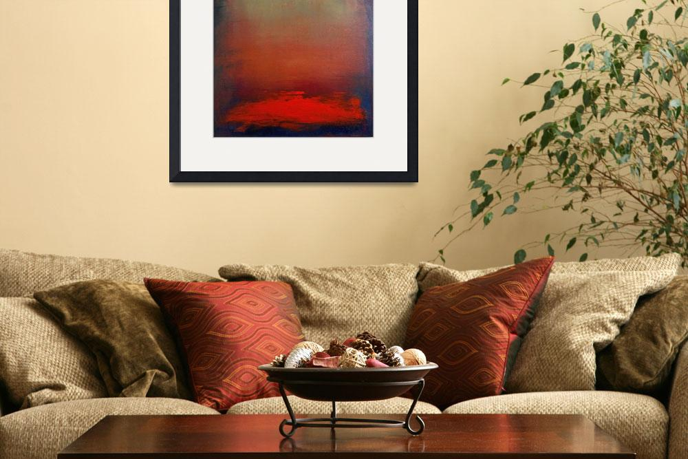 """""""Hazy Abstract Sunset&quot  (2008) by kristensteinfineart"""