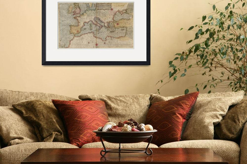 """""""Vintage Map of Europe and The Mediterranean (1569)""""  by Alleycatshirts"""