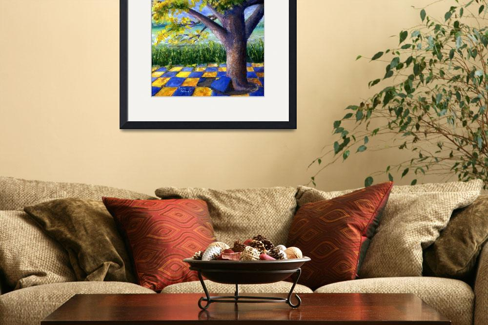 """Tree in Yellow and Blue Surroundings&quot  (2006) by Lenora"