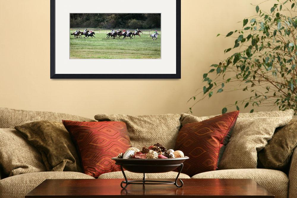 """""""The Horses Along The Home Stretch At Shawan Downs""""  by McallenPhotography"""
