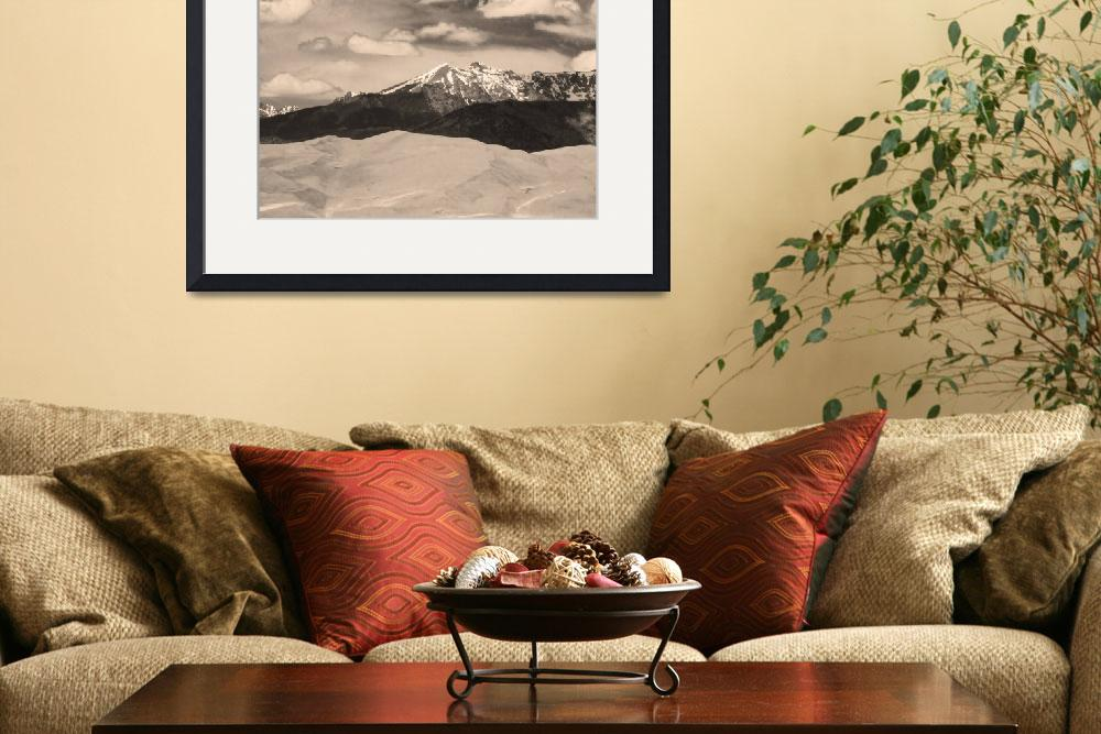"""""""The Great Sand Dunes and Sangre de Cristo Mountain&quot  (2010) by lightningman"""