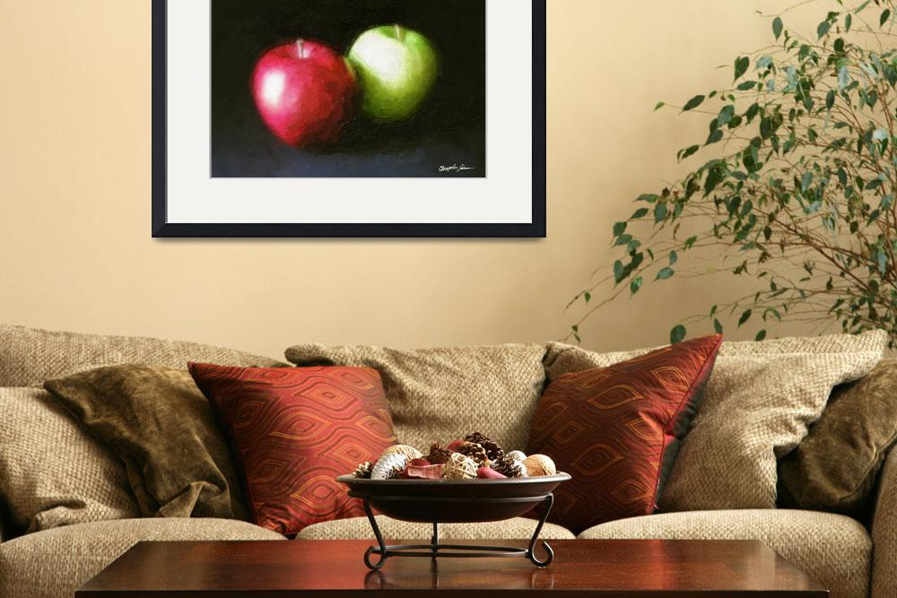 """Red and Green Apples 1 Painterly&quot  (2010) by ChristopherInMexico"