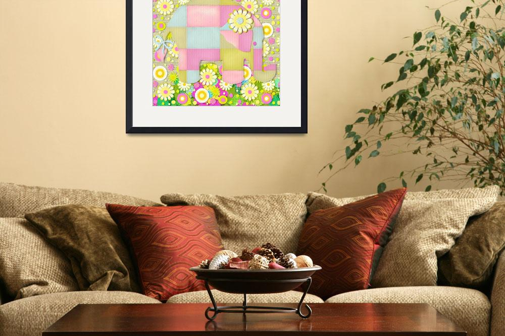 """Elephant Flowers&quot  (2009) by MargaretLeVanDesigns"