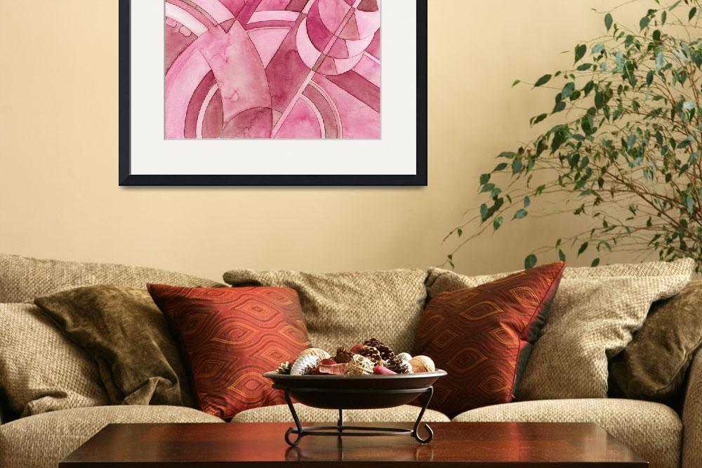 """""""Burgundy Deco Motif&quot  (2010) by SarahBond"""