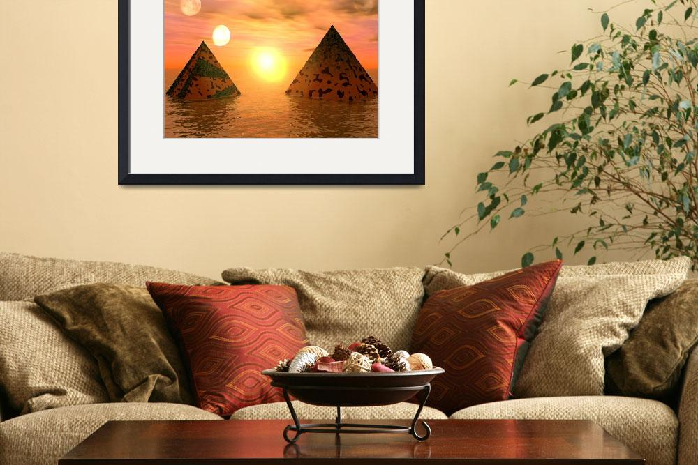 """Waterworld pyramids&quot  (2009) by bishe"