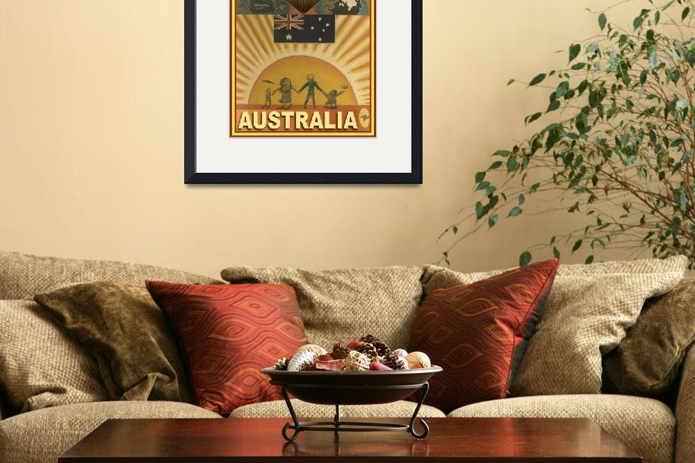 """Australia Poster Design&quot  (2012) by stephenthedigitalartist"