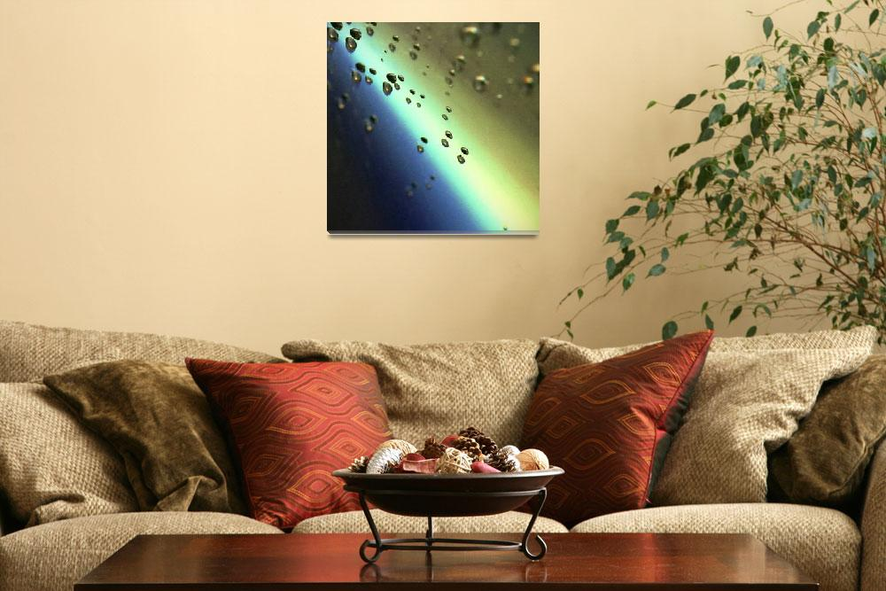 """""""Meteorites asteroids flying in space""""  (2007) by edwardolive"""