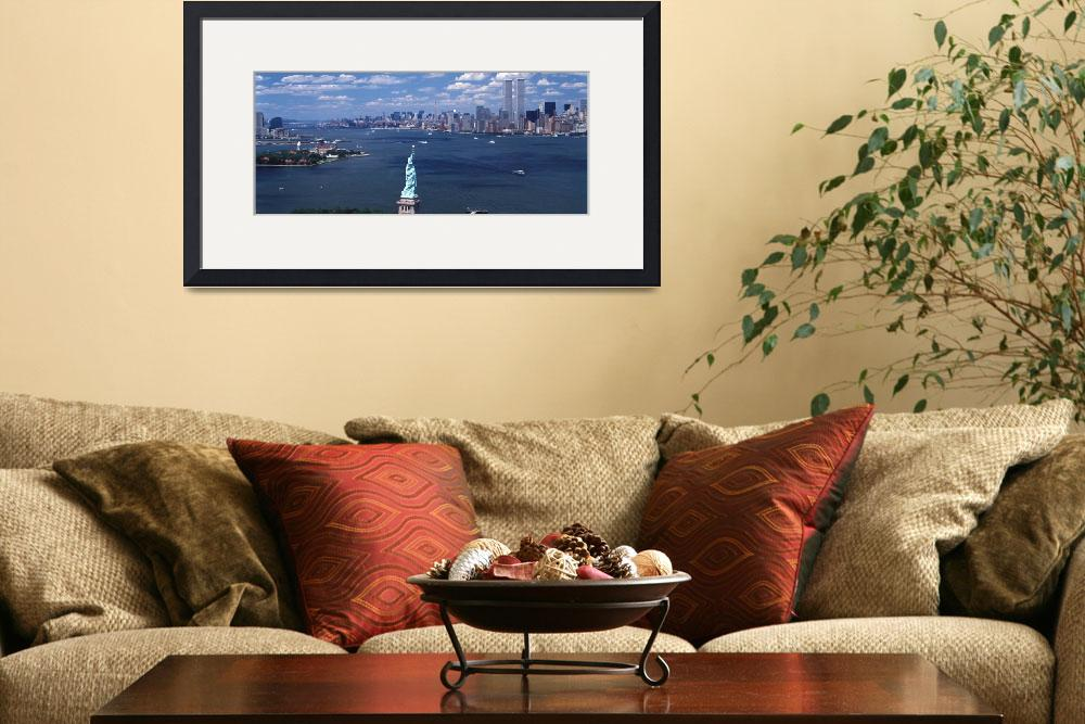 """""""New York Harbor Statue of Liberty New York NY&quot  by Panoramic_Images"""