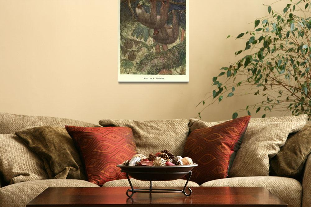 """""""Vintage Sloth Painting (1909)&quot  by Alleycatshirts"""