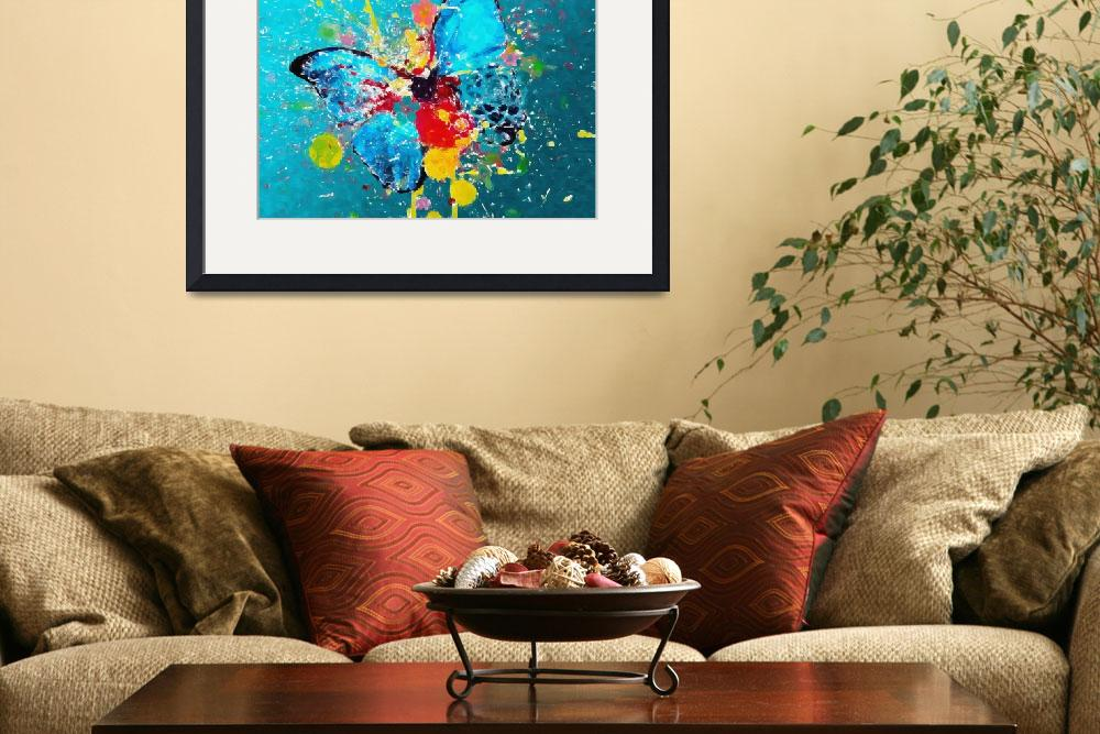 """""""A COLOR BLAST A BUTTERFLY&quot  (2006) by Big88artworks"""
