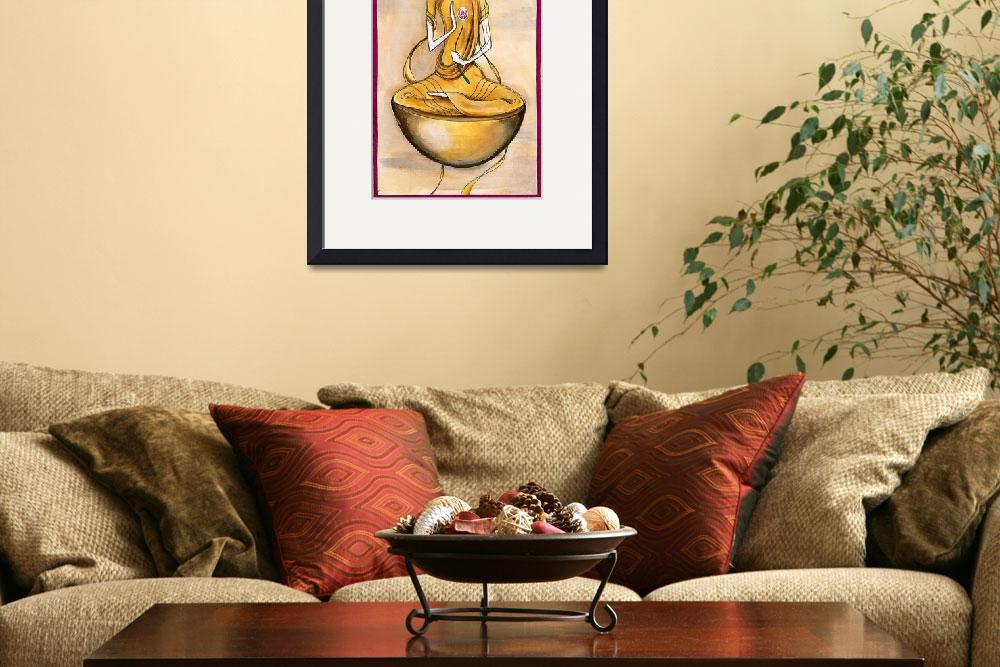 """""""Floating Buddha&quot  (2005) by JeffreyBean"""