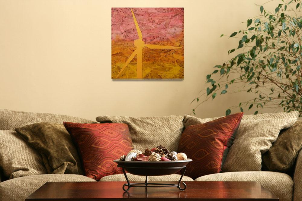 """""""Windmill At Sunset&quot  (2009) by thecreativeengineer"""