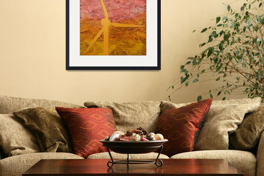 """Windmill At Sunset&quot  (2009) by thecreativeengineer"