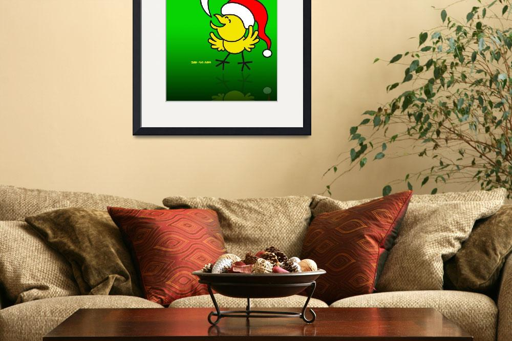 """""""Christmas Chicken making a Wish!&quot  (2009) by Zooco"""