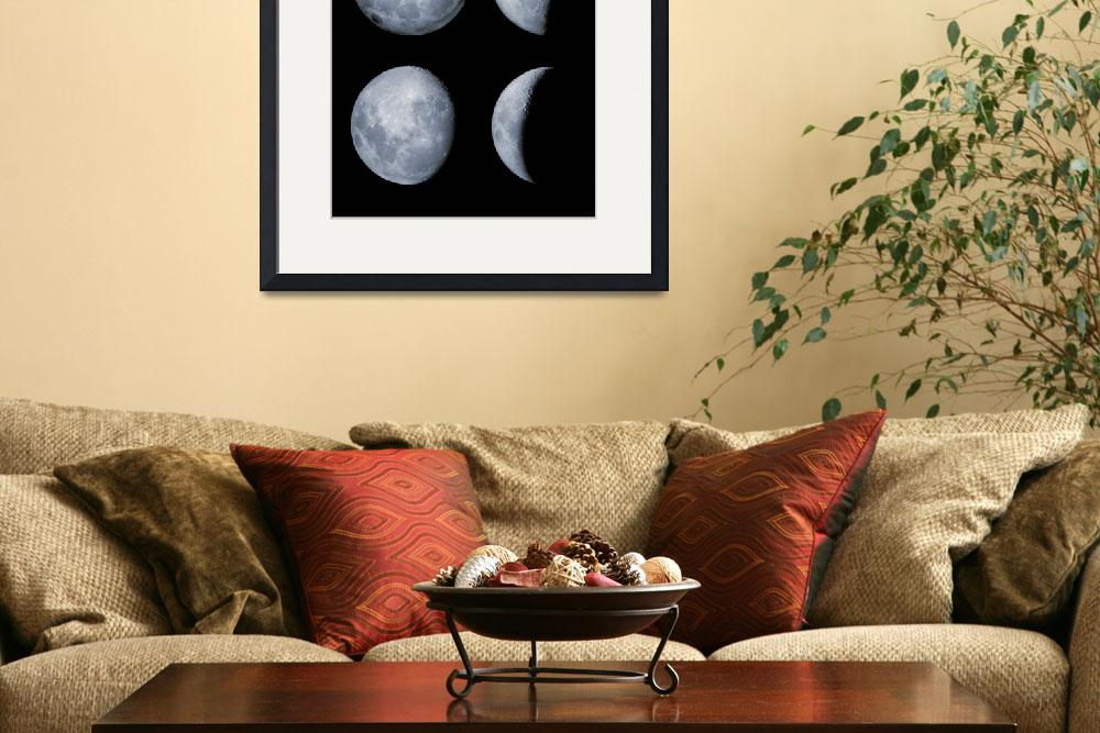 """""""Four phases of the moon&quot  by stocktrekimages"""