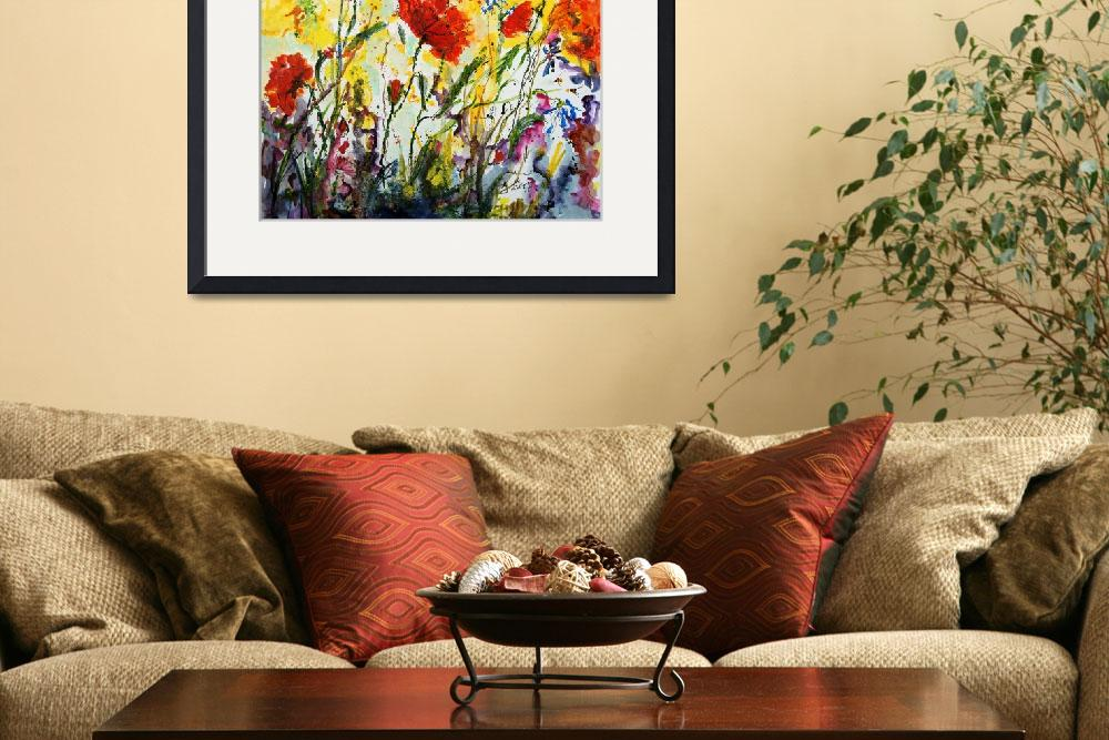 """""""Poppies Provence Colorful Flowers""""  (2011) by GinetteCallaway"""