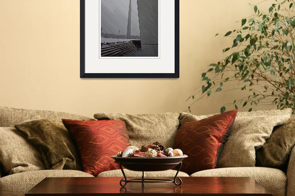 """""""Gateway Arch in Snow""""  (2011) by nkphotography"""