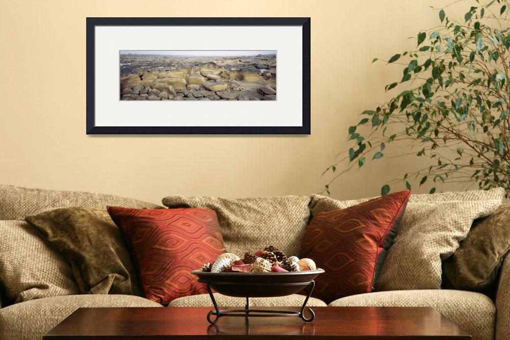 """""""Rocks at a dry riverbed""""  by Panoramic_Images"""