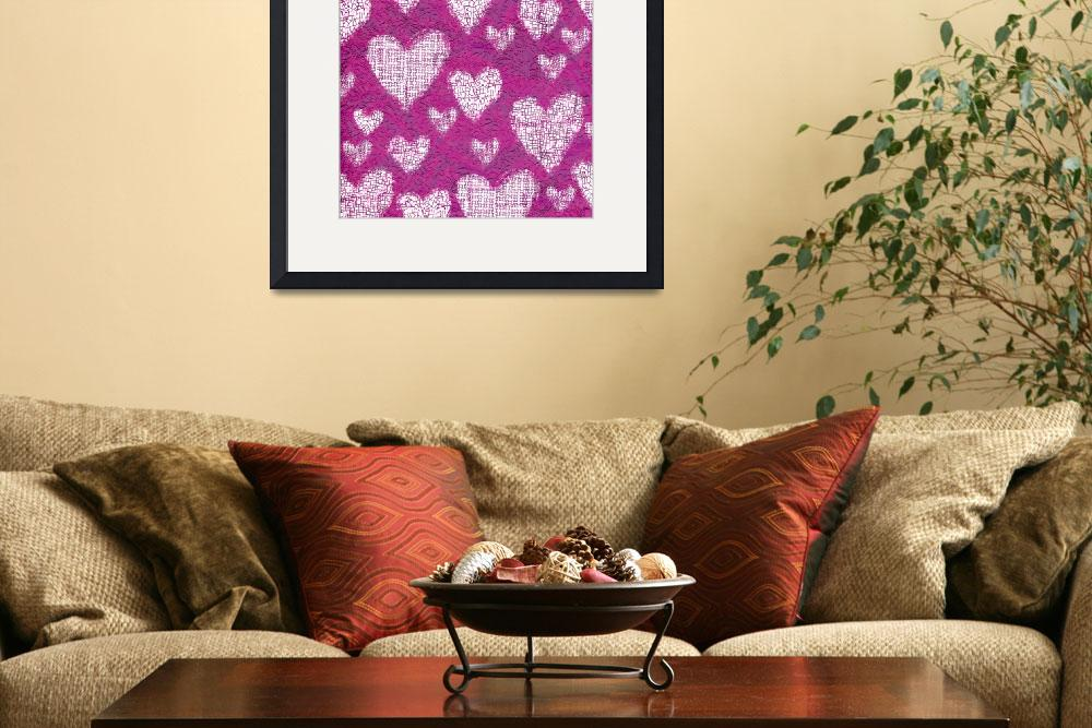"""""""stamp heart&quot  (2010) by NickBiscardiArt"""