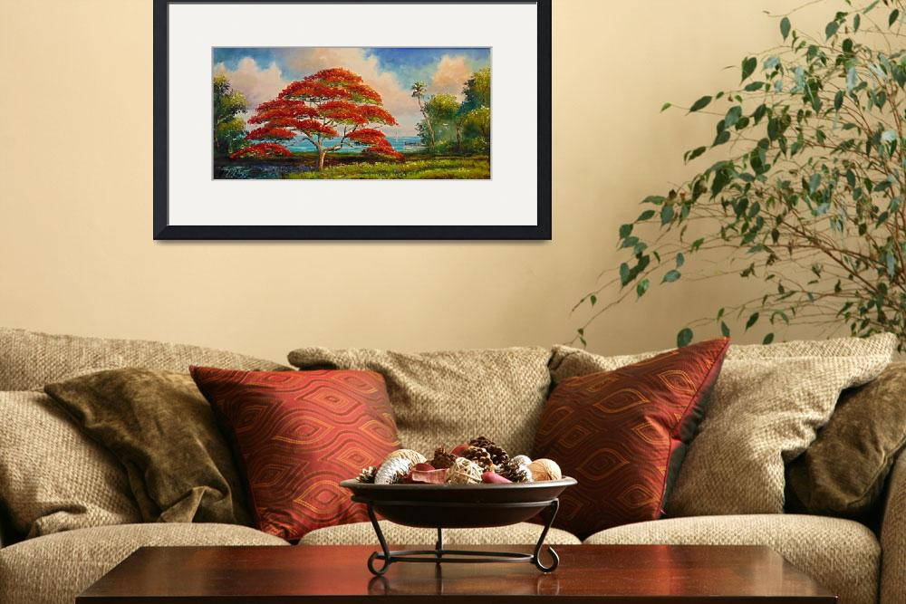 """""""Royal Poinciana Panoramic&quot  (2007) by mazz"""