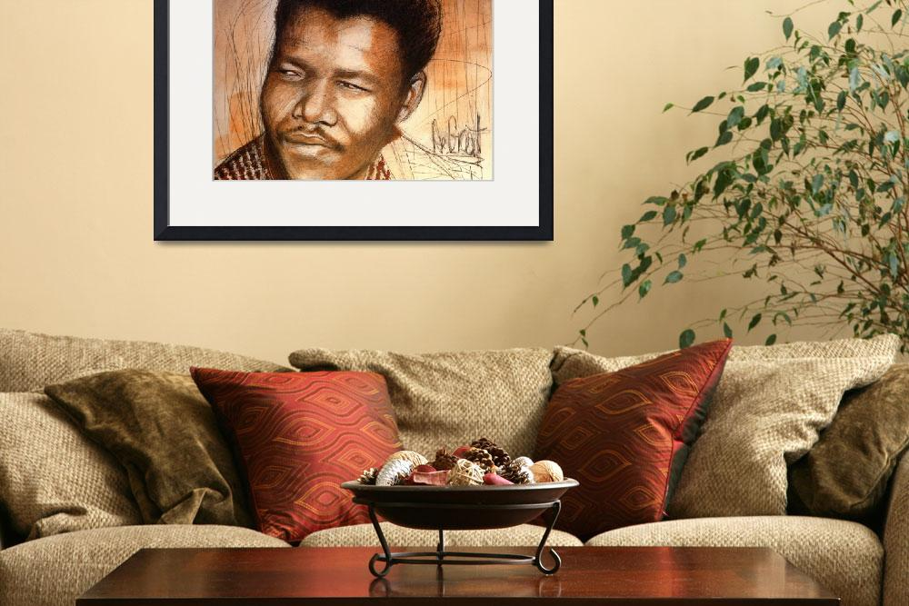 """Young Mandela&quot  (2013) by Greggdegroat"