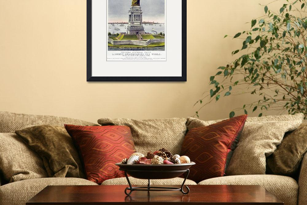 """Statue of Liberty Historical Lithograph (1886)&quot  by Alleycatshirts"