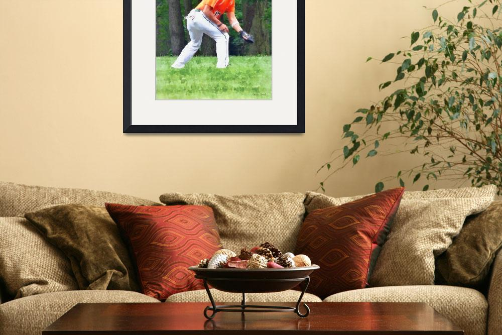 """""""Baseball - Warming Up Before the Game&quot  by susansartgallery"""