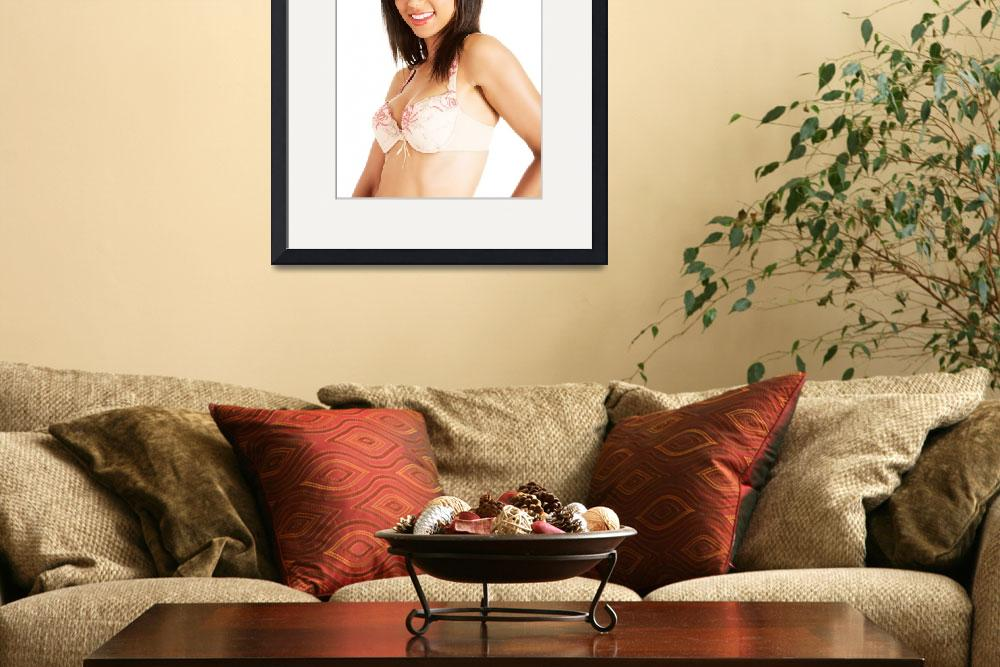 """""""Sexy lady in lingerie, isolated on white backgroun&quot  by Piotr_Marcinski"""