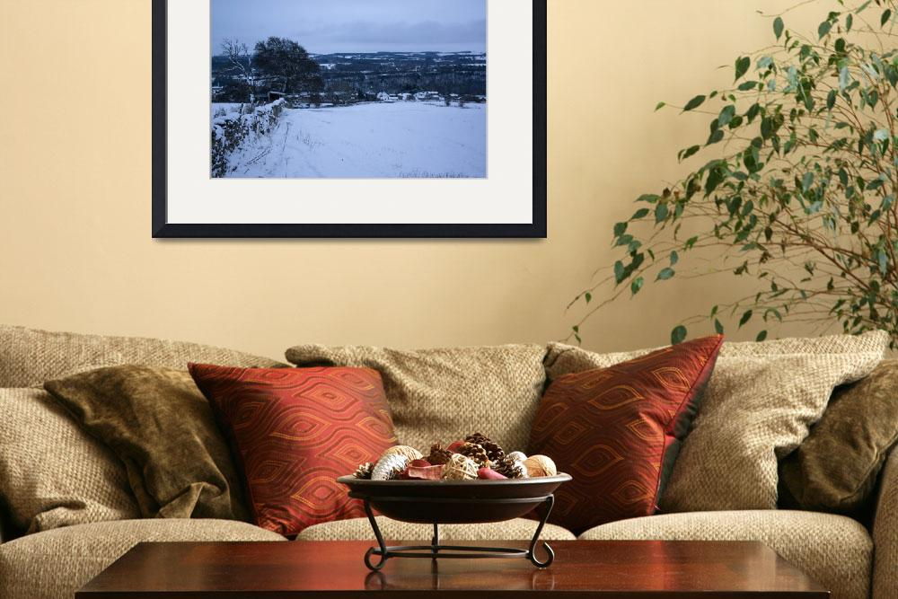 """""""Wintery Snow Landscape&quot  (2010) by SeanConnolly"""