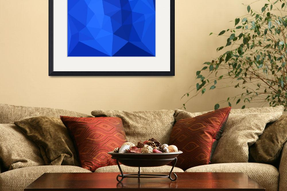 """""""Bright Navy Blue Abstract Low Polygon Background""""  (2016) by patrimonio"""