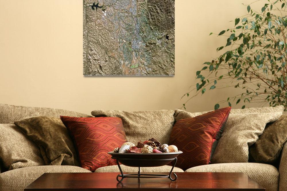 """""""Windhoek (Namibia) : Satellite Image""""  (2002) by astriumgeo"""