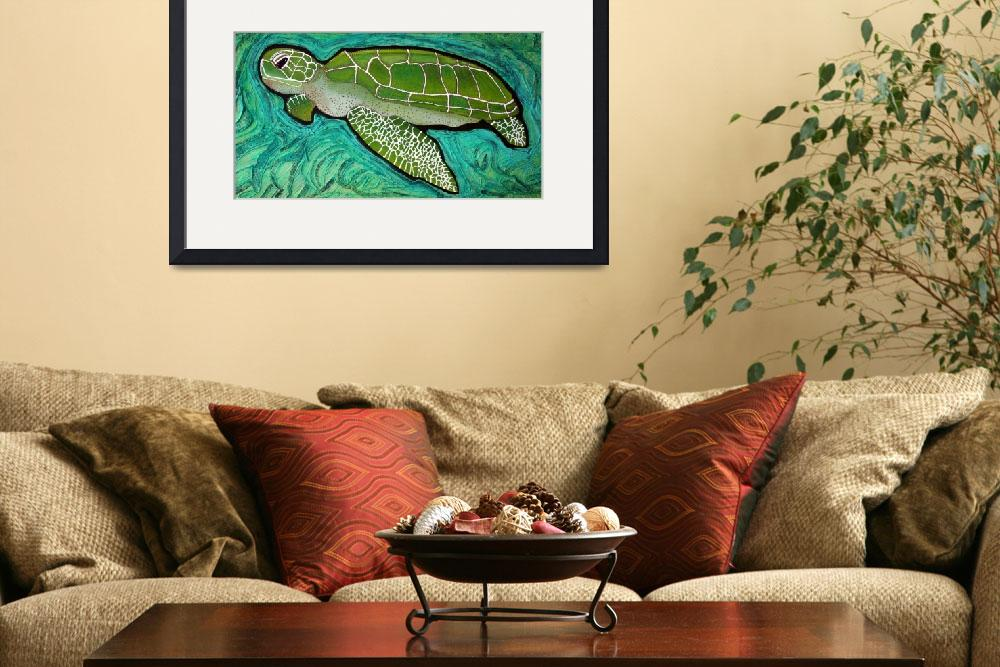 """""""Green Sea Turtle&quot  (2009) by ArtPrints"""