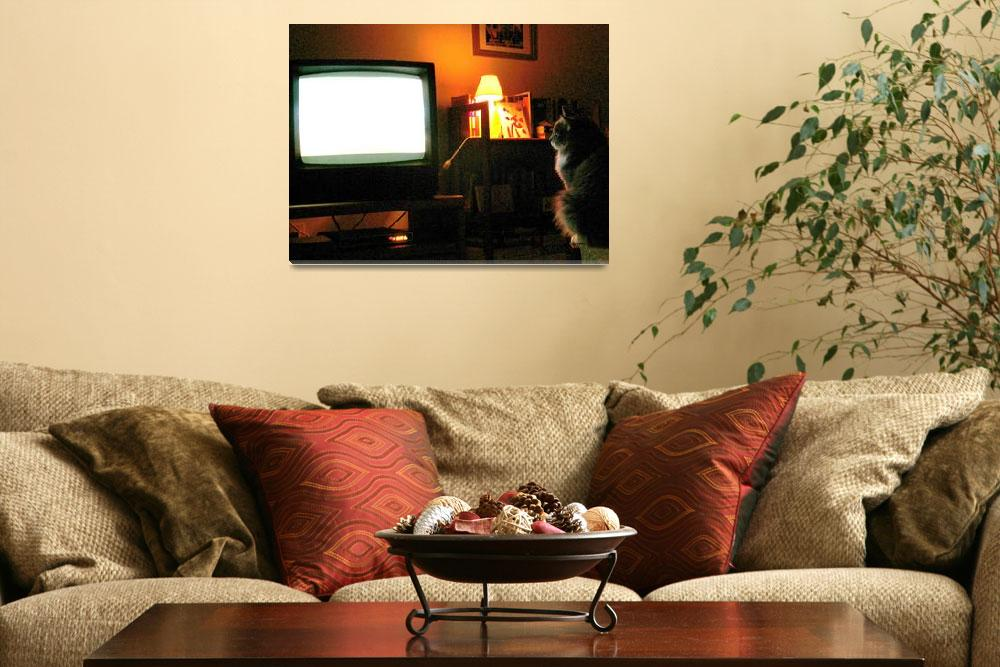 """""""Keaton Watches TV Too""""  (2010) by MatareseArt"""