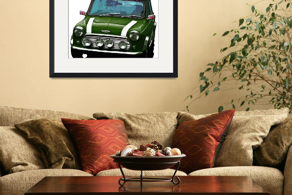 """Mini Cooper Digital Art Print&quot  (2015) by ImageMonkey"