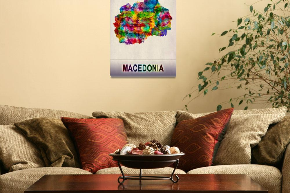 """""""Macedonia Map""""  by Towseef"""