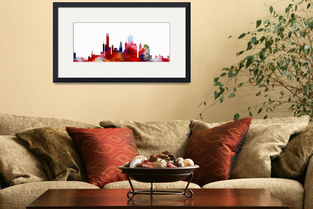 """Decorative Skyline Abstract  Houston T1115D""  (2015) by MasArtStudio"