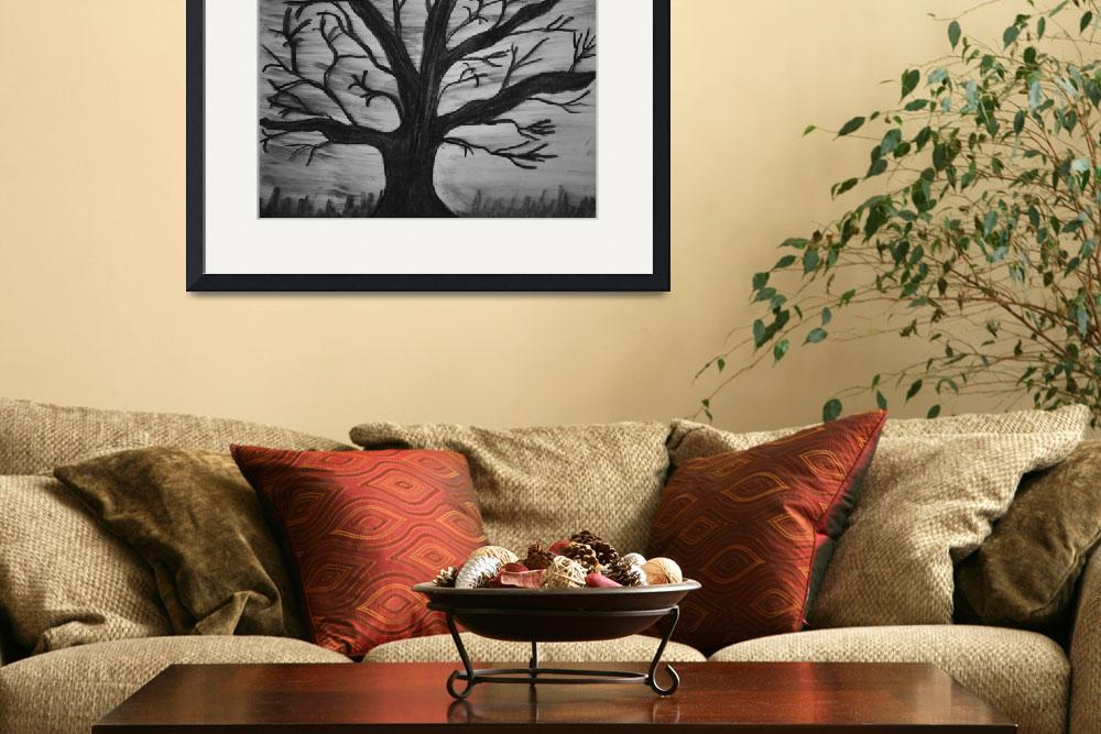 """""""Old tree with no leaves&quot  (2012) by MikeMBurkeDesigns"""