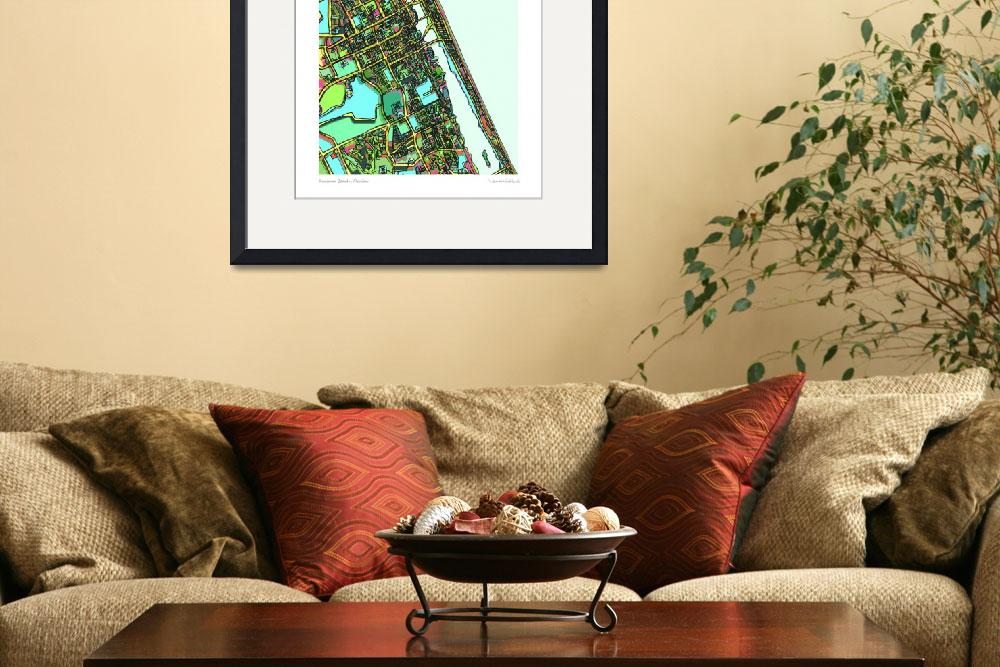 """""""Florida 16x20 w sig and loc&quot  by carlandcartography"""