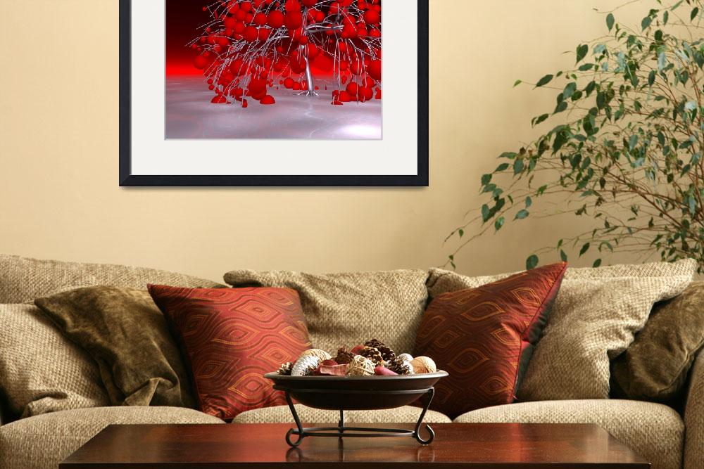 """""""fancy tree - red&quot  (2016) by issabild"""